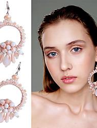 cheap -Women's Stud Earrings Drop Earrings Geometrical Drop Stylish Bohemian Boho Earrings Jewelry Light Brown / White / Gold For Wedding Party Holiday Festival 1 Pair