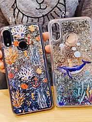 cheap -Case For Huawei Huawei P20 Pro / Huawei P20 lite / Huawei P30 Flowing Liquid / Glitter Shine Back Cover Animal / Cartoon TPU