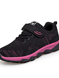cheap -Women's Athletic Shoes Flat Heel Round Toe Mesh Casual Running Shoes Fall Black / Dark Red / Purple / Striped