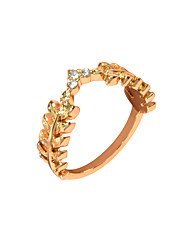 cheap -Women's Ring 1pc Gold Alloy Artistic Luxury Unique Design Wedding Engagement Jewelry Spiga Crown Cool Lovely