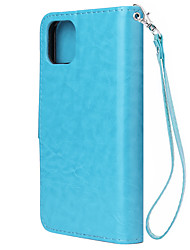 cheap -Case For Apple iPhone 11 / iPhone 11 Pro / iPhone 11 Pro Max Wallet / Card Holder / Ultra-thin Back Cover Solid Colored PU Leather / TPU