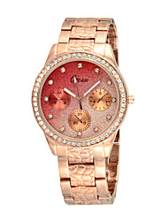 cheap -Steel Band Watches Quartz Rose Gold Calendar / date / day Adorable Analog Elegant - Rose Gold