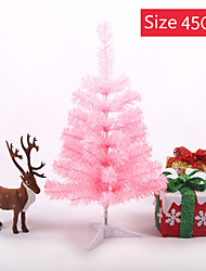 cheap -Artificial Christmas Tree 60cm with Plastic support base for Christmas party decoration at home (pink)