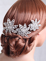 cheap -Rhinestone / Alloy Hair Combs with Crystals / Rhinestones 1 Piece Wedding Headpiece