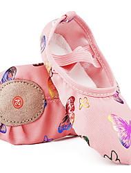 cheap -Girls' Dance Shoes Canvas Ballet Shoes Flat Flat Heel Pink