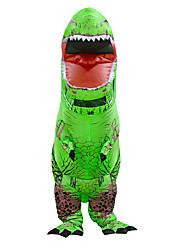 abordables -Dinosaure Costume Gonflable Adultes Adulte Homme Halloween Halloween Fête / Célébration Rayon / polyester Vert Homme Femme Déguisement Carnaval / Collant / Combinaison / Manuel D'Utilisation