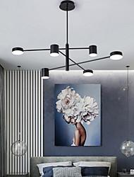 cheap -6-Light 6 Lights LED Industrial Chandelier/ Ambient Light Black Painted for Living Room Bedroom 110-120V/ 220-240V / Warm White/ White