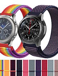 abordables -bracelet en nylon de montre de sport pour samsung gear s3 classique / frontier / galaxie regarder 46mm bracelet remplaçable