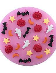 cheap -Halloween pumpkins and ghost bat star liquid silicone double sugar cake baking