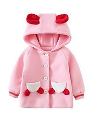Недорогие -малыш Девочки Классический Фрукты Куртка / пальто Розовый / Дети (1-4 лет)