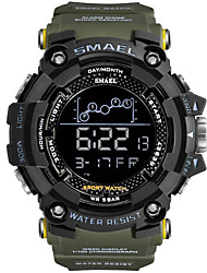 cheap -Men's Sport Watch Digital Sporty Rubber Black 30 m Military LED Light Cool Digital Outdoor - Black Black / Blue black / gold One Year Battery Life / Maxell CR2025