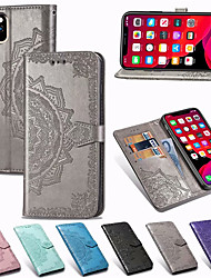 cheap -Mandala Embossed Wallet Leather Flip Phone Case For iPhone 12 Pro Max 11 Pro Max XR XS Max X 8 Plus 8 7 Plus 7 6 Plus 6 Card Holder Stand Case Cover