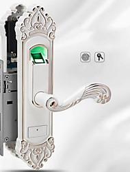 cheap -Factory OEM ZN-1099 Zinc Alloy Fingerprint Lock Smart Home Security Android System Fingerprint unlocking Home / Office Wooden Door (Unlocking Mode Fingerprint)
