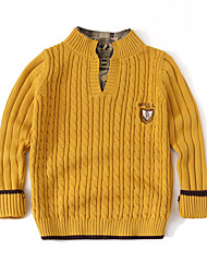 cheap -Kids Boys' Basic Solid Colored Long Sleeve Sweater & Cardigan Yellow