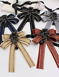 cheap -Unisex Work / Active / Cute Bow Tie - Print / Color Block