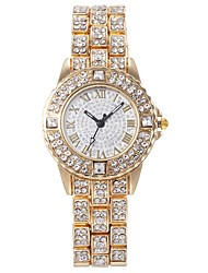 cheap -Women's Quartz Watches Casual Fashion Silver Gold Rose Gold Alloy Chinese Quartz Gold Silver Rose Red Casual Watch 30 m 1 pc Analog One Year Battery Life
