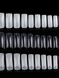 Недорогие -Прозрачный белый натуральный французский ложные подсказки ногтя пвх уф-гель ультра гибкий