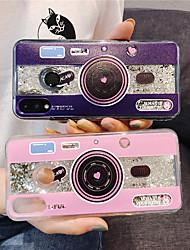 cheap -Case For Huawei Huawei P20 Pro / Huawei P20 lite / Huawei P30 Flowing Liquid / Glitter Shine Back Cover Heart / Geometric Pattern TPU