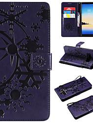 Недорогие -Кейс для Назначение SSamsung Galaxy Note 8 / Note 3 / Galaxy Note 4 Кошелек / Бумажник для карт / Флип Чехол Пейзаж Кожа PU / ТПУ