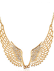 cheap -Women's Cubic Zirconia Necklace Geometrical Angel Wings Fashion Chrome Gold 50+5 cm Necklace Jewelry 1pc For Holiday