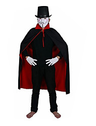 cheap -Halloween Witches Black and Red Collar Vampire Cape Cloak Worn on Both Sides of The Double Layer 1.4 M