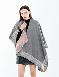 cheap -Sleeveless Ladies / Shawls Imitation Cashmere Office / Career Shawl & Wrap / Women's Wrap With Split Joint