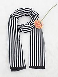 Недорогие -Жен. Классический Прямоугольный платок Полоски / Контрастных цветов