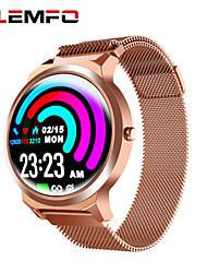 cheap -Couple's Smartwatch Digital Stylish Stainless Steel Black / Gold / Pink 30 m Heart Rate Monitor Bluetooth Smart Analog Fashion - Black Golden Pink Two Years Battery Life