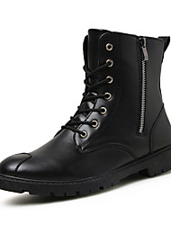 cheap -Men's Combat Boots PU Fall & Winter Casual Boots Walking Shoes Non-slipping Black / Brown / Outdoor