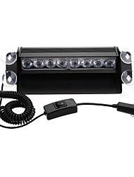 cheap -1pcs 8 LED Car Deck Dash Strobe Flash Warning Emergency Lights