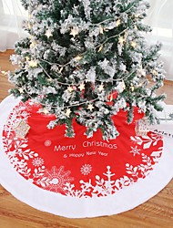 cheap -Christmas Tree Skirt Carpet 122cm Christmas  For Home  Aprons New Year Decoration
