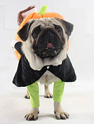cheap -Dogs Cats Outfits Winter Dog Clothes Orange Halloween Costume Baby Small Dog Polyster Pumpkin Holiday S M L XL XXL