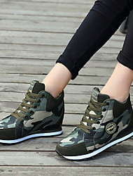 cheap -Women's Athletic Shoes Flat Heel Round Toe Canvas Running Shoes Fall & Winter Army Green / Camouflage