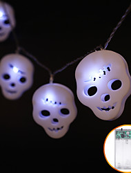 cheap -1.2m Halloween Skull String Lights 10 LED White Warm White Multi Color Waterproof IP44 Party Haunted House Decoration 1pc