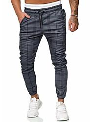 cheap -Men's Basic / Street chic Chinos / wfh Sweatpants Pants - Solid Colored / Striped Gray US32 / UK32 / EU40 US34 / UK34 / EU42 US36 / UK36 / EU44