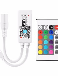 cheap -1pc 5-24 V Remote Controlled / Bulb Accessory / Strip Light Accessory Plastic & Metal RGB Controller for RGB LED Strip Light / 2835 5050 RGB Light Strip Mobile APP Wireless 24 Key