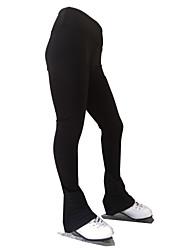 cheap -Figure Skating Pants Women's Girls' Ice Skating Tights Bottoms Black Open Back Spandex High Elasticity Training Skating Wear Solid Colored Classic Long Pant Ice Skating Figure Skating / Kids
