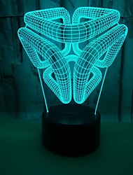 cheap -3D Nightlight Color-Changing with USB Port USB 1pc