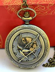 cheap -Men's Pocket Watch Quartz Vintage Style Bronze Creative New Design Casual Watch Analog Vintage - Bronze