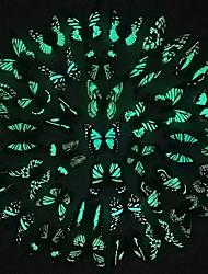 Недорогие -Животные Наклейки Светящиеся наклейки Декоративные наклейки на стены, PVC Украшение дома Наклейка на стену Холодильник Украшение 1шт