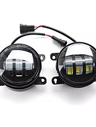 cheap -2pcs 4 Inch COB LED Daytime Running Lights DRL Fog Lamp Dual Color for Ford F150/Honda/Nissan/Subaru/Acura