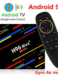 cheap -H96 MAX Plus Voice Control Smart TV BOX Android 9.0 RK3328 4K Media Player QuadCore 4GB Ram 64GB ROM Android 8.1 Rockchip Set Top Box 2.4G/5G WIFI H.265 H96Max + TVBOX USB3.0 BT