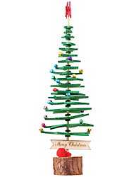 cheap -Christmas Ornaments Holiday Wooden Mini Novelty Christmas Decoration