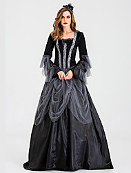 cheap -Ghostly Bride Dress Cosplay Costume Party Costume Adults' Women's Cosplay Halloween Halloween Festival / Holiday Tulle Cotton / Polyester Blend Black Women's Carnival Costumes