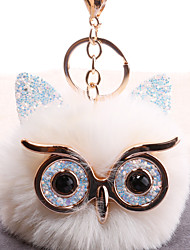 cheap -Keychain Owl Fashion European Korean Ring Jewelry White / Black / Red For Gift Daily