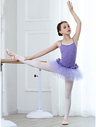 cheap -Ballet Leotards Girls' Training / Performance Cotton / Lace Lace / Sashes / Ribbons Sleeveless Leotard / Onesie