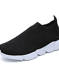 cheap -Women's Athletic Shoes Flat Heel Round Toe Tissage Volant Sporty Walking Shoes Fall / Spring & Summer Black / White / Pink