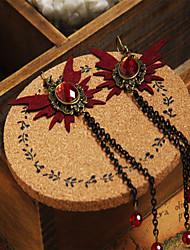 cheap -Women's Red Crystal Drop Earrings Chandelier Butterfly Stylish Simple Classic Vintage Earrings Jewelry Black For Party Halloween Carnival Street Club 1 Pair