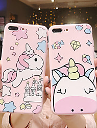 cheap -Case For Apple iPhone XS / iPhone XR / iPhone XS Max/7 8plus/6splus/6s Frosted / Pattern Back Cover 3D Cartoon TPU