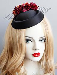 cheap -Women's Dainty Vintage Trendy Fabric Alloy Hat Hair Clip Halloween